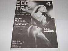 Ego Trip No 4 - UK Fanzine 1983 Vintage Iron Maiden Lee Aaron Fastway NWOBHM