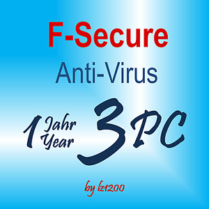 F-Secure Anti-Virus 2019  3 PC / 1 Jahr