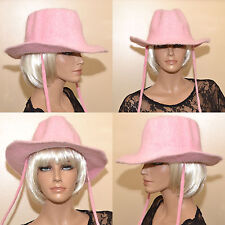 CHAPEAU Femme Angora 80% Cow Boy western country capeline rose ZAZA2CATS.FR