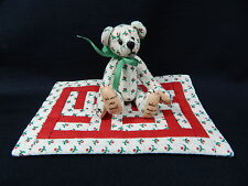 "World of Miniature Bears 3"" Cotton Bear w/quilt #485 CLOSING"