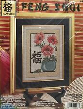 Feng Shui Happiness Flowers Poppies Counted Cross Stitch Kit 9903
