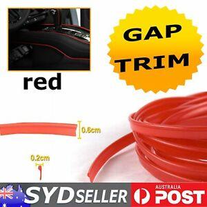 5.5M Red Gap Moulding Trim Strip Liner Car Door Panel Filler Dash Decorative DIY