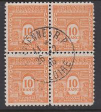 RR SUPERBE FRANCE BLOC DE 4 du 629 arc de triomphe 10F ORANGE SAINT ETIENNE 42