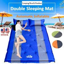 Double Self Inflating Pad Mat Sleeping Cushion Mattress Air Bed Camping Outdoor