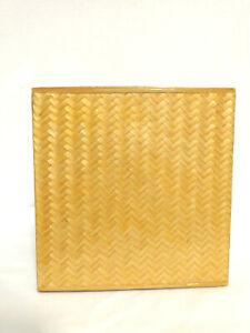Vintage Wicker Rattan Vanity Tissue Box Holder Container Retro Boho Cottage