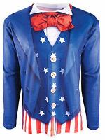 Adult Patriotic Printed T-shirt Costume