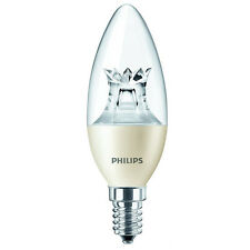 Philips Warmglow 230V Small Edison 6W LED Dimmable Candle Light Bulb Warm White