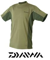 Daiwa Specialist T-Shirt Green Size Large 100% Polyester Fishing Top Breathable