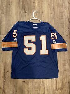 Vintage 90s Starter Dick Butkus #51 Chicago Bears Blue Jersey 48 X-Large NFL