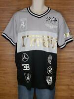 Lavish Society Graphic Ferrari Short Sleeve Shirt Mens Size XL EUC