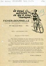Paris XII ème 79 Boulevard Picpus - Belle Entête Marchand de Cycles F B de 1922