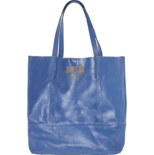 BNWT Blue Large Distressed Leather Diesel DAFNE Tote Bag & Matching Purse