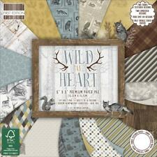 "Trimcraft 6x6 Paper Pad WILD AT HEART 4 Ea of 16 Designs=64 Sheets 6""x6"" Animals"