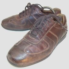 J & M Mens Oxford Shoes Johnston Murphy US 9 M Brown Leather Lace-up Walking