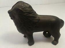 Original cast iron lion bank