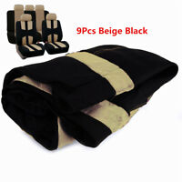 FULL SET BEIGE CAR SEAT COVER PROTECTOR KITS UNIVERSAL