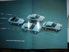 2002 JAGUAR Range Australian 8p Large Format Brochure Folder XJ XK S-TYPE X-TYPE