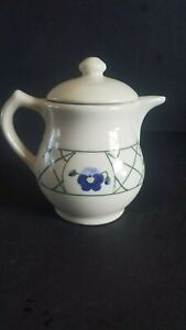 Vintage HARTSTONE Hand Painted Stoneware Teapot FLAWLESS