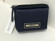 NEW ARRIVAL KENNETH COLE REACTION MARINA BLUE SAFFIANO FLAP MULTIFUNCTION WALLET