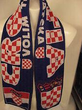 Sonderpreis !Schal Kroatien weisse Fransen Modell 1 Fussball EM 2016 Fanartikel