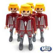 playmobil 4 x Figurine de base: Chevalier blond Barbe de plusieurs jours Buste