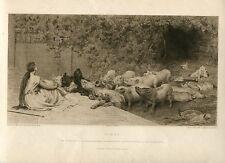 «Circe» Grabado por James Dobie sobre obra de Briton Riviere R.A. en The Art Jou
