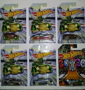 2019 HOT WHEELS HOLIDAY HOT RODS COMPLETE SET OF 6,NEW, MULTIPLE SETS AVAILABLE