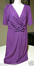 DRESS SUZI CHIN for MAGGY BOUTIQUE PURPLE Sexy Size 4 STRETCH CUTE!  #5182