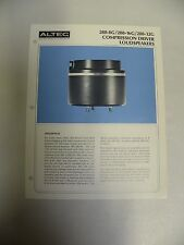Vtg Original Altec 288-8G 16G 32G Compression Driver Loudspeaker Spec Sheet (A3)
