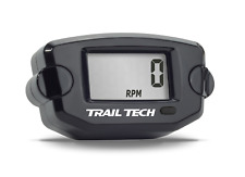 Trail Tech TTO Surface Tach Hour RPM Meter Digital Gauge Black Tachometer Engine