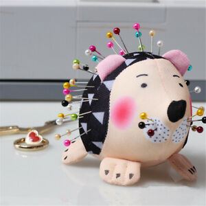 Kawaii Handmade Hedgehog Shape Soft Fabric Pin Cushion Pin Quilting Holder DIY
