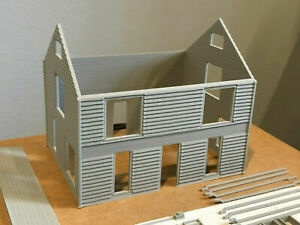 HO Scale Aunt Ruby's House 3D Printed in Gray kit