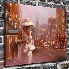 The streets of London painting HD Print on Canvas Home Decor Wall Art Pictures