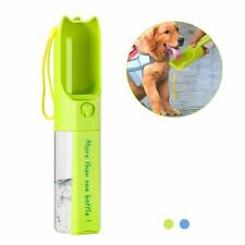 Dog Water Bottle, Pet Drinking Water Bottle for Walking, Outdoor Portable- Green