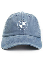 BMW Custom Unstructured Denim Dad Hat Cap Baseball Headwear Brand New