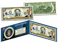 GEORGE H W BUSH * 41st U.S. President * Colorized $2 Bill - Genuine Legal Tender