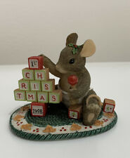 Charming Tails The Building Blocks of Christmas 1998 by Fitz & Floyd 87/619