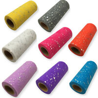 Glitter Tulle Roll Wedding Decoration 25 yards 15cm Spool Tutu Organza Laser DIY