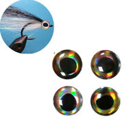 72pcs Fishing Lure Eyes 4D Holographic Eyes Fly Tying Jigs Crafts Doll 6-8-10nm