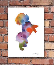 Bichon Frise Abstract Watercolor Painting Art Print by Artist DJ Rogers