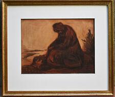 Listed American Artist EUGENE HIGGINS Signed Original Pastel