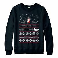 Game Of Thrones Christmas Jumper, Xmas Is Coming Festive Adult & Kids Jumper Top