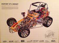 Autocraft VW Midget Cutaway - David Kimble/ Rare & Out of Print Car Poster!