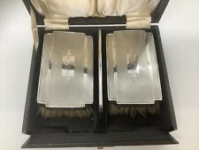 More details for sterling silver elkington & co birm 1937 backed clothes/grooming brushes & comb