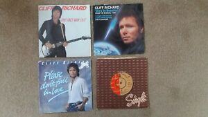"""Cliff Richard - 4 x 7"""" Singles - The Only Way Out, We Don't Talk.... + 2 others"""