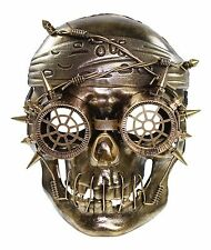 Gold Vengeful Steam Punk Pirate Plastic Mask Masquerade Costume Halloween