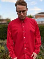 Vintage Ralph Lauren L Red Oxford Shirt Men's Blaire Button Down Smart Casual