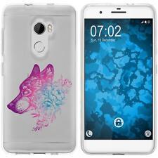 Case für HTC One X10 Silikon-Hülle Floral Wolf M3-6 + 2 Schutzfolien