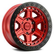 Black Rhino RENO Wheels 17x9 (-18, 5x127, 71.6) Red Rims Set of 4