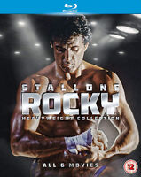 ROCKY THE HEAVYWEIGHT COLLECTION BLU RAY Sylvester Stallone Original UK New R2